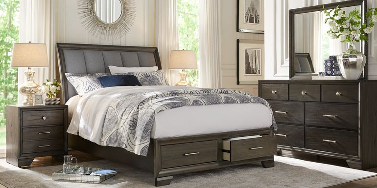 Beckwood Gray 7 Pc King Storage Bedroom