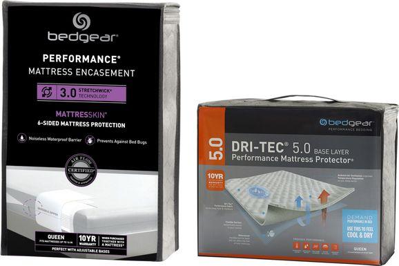 Bedgear MattresSkin Twin Mattress Encasement & Dri-Tec Protector