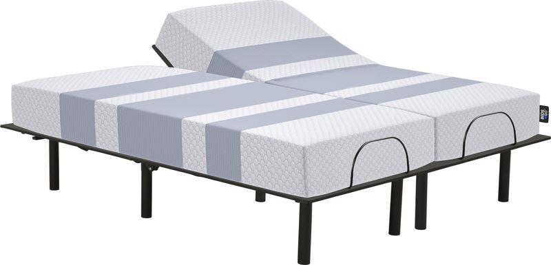 Beds To Go Split King Mattress with Reverie O200 Adjustable Base