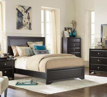 Belcourt Black 7 Pc Queen Panel Bedroom