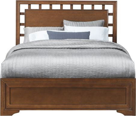 Belcourt Cherry 3 Pc Queen Lattice Bed
