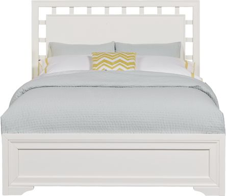 Belcourt White 3 Pc Queen Lattice Bed