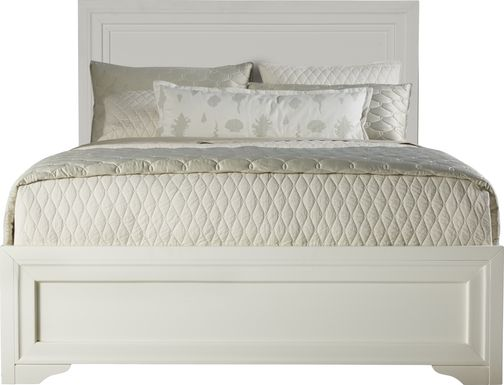 Belcourt White 3 Pc Queen Panel Bed