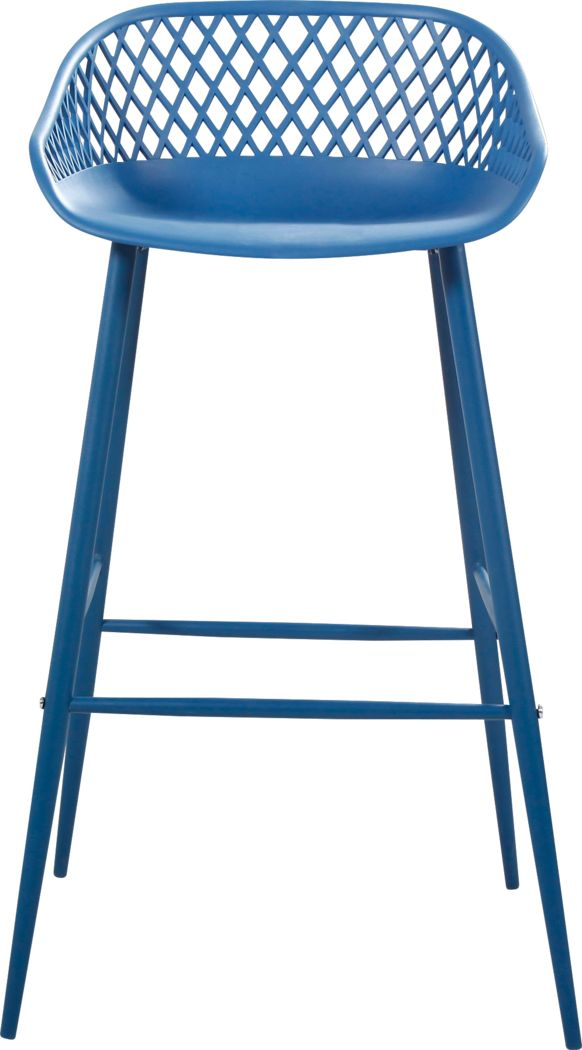 Belcross Blue Outdoor Barstool