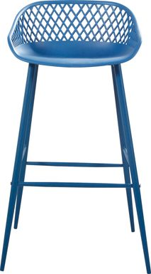 Belcross Blue Outdoor Barstool