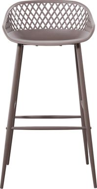 Belcross Gray Outdoor Barstool
