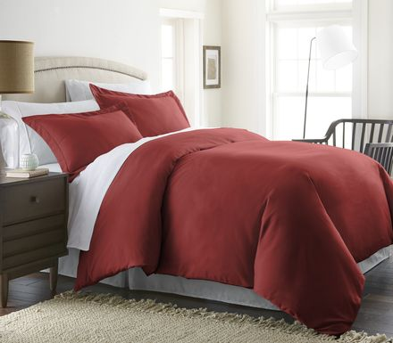 Belden Landing I Red 3 Pc King Duvet Set