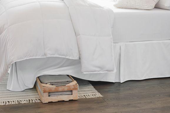 Belden Landing II White Queen Bed Skirt