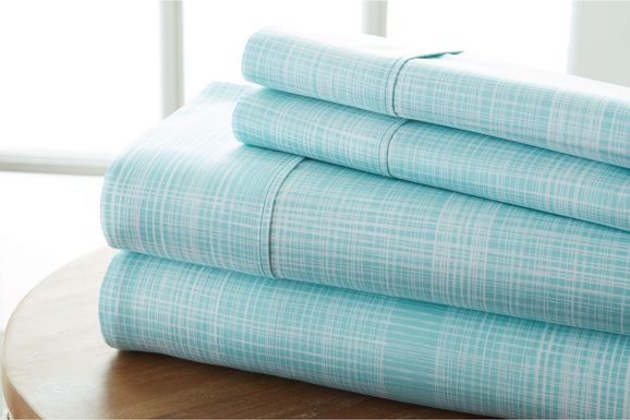 Belden Landing IX Blue 4 Pc King Bed Sheet Set