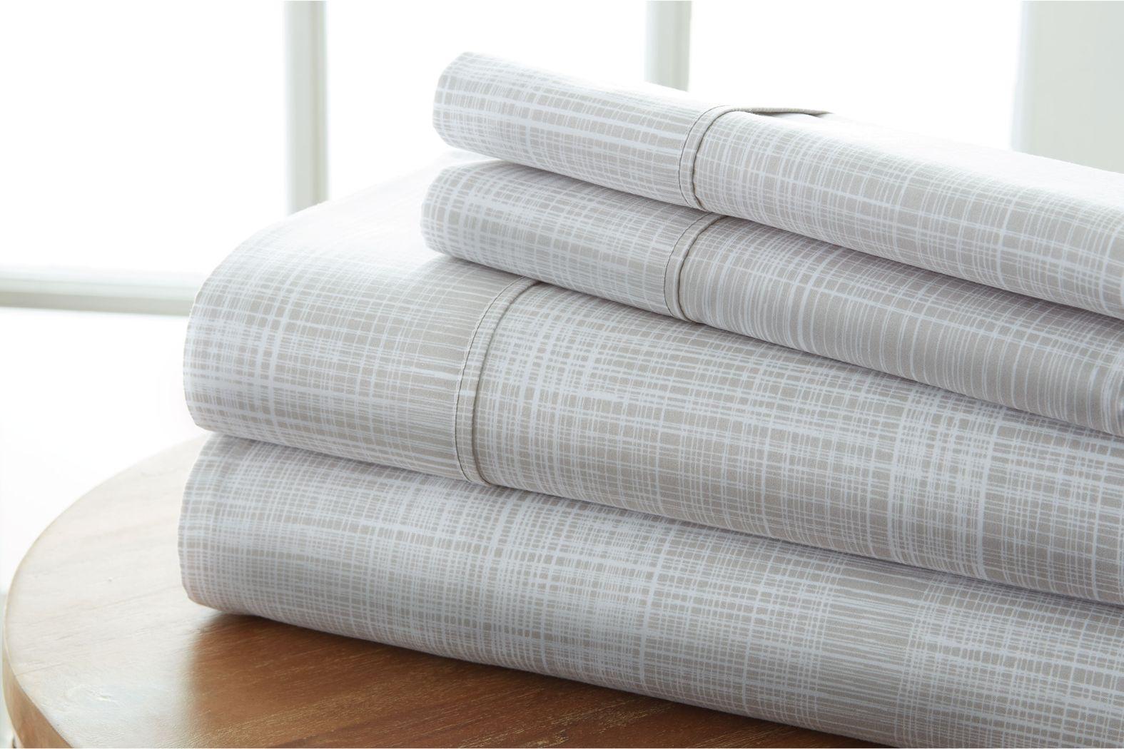 Belden Landing IX Gray 4 Pc King Bed Sheet Set