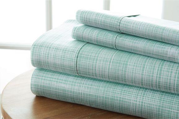 Belden Landing IX Green 4 Pc Queen Bed Sheet Set