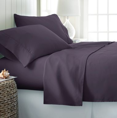 Belden Landing Purple 4 Pc King Bed Sheet Set