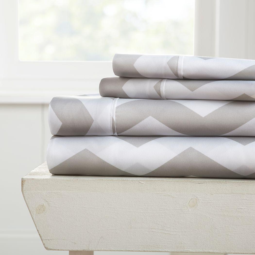 Belden Landing VI Gray 4 Pc King Bed Sheet Set