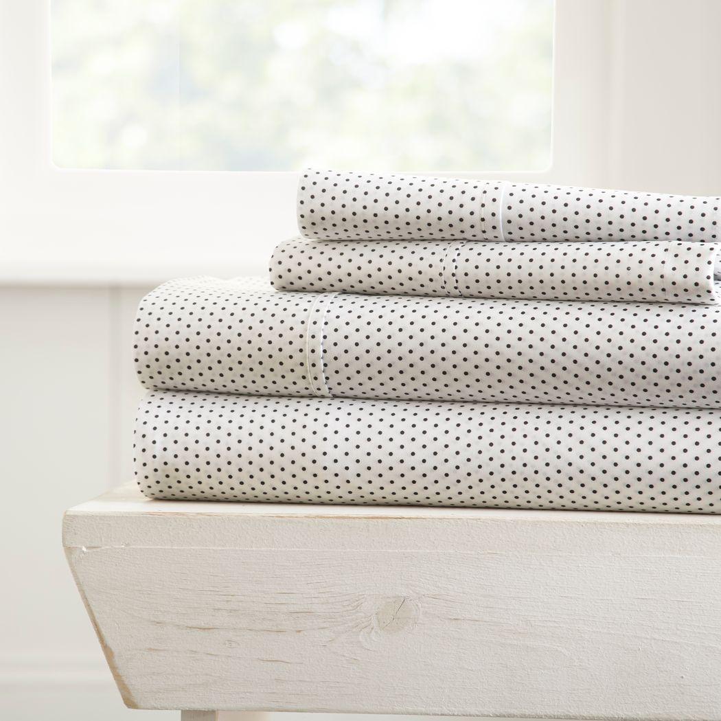 Belden Landing XVI Gray 4 Pc King Bed Sheet Set