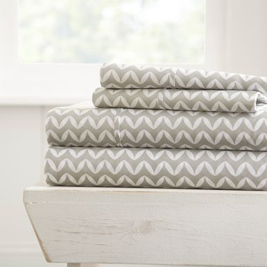 Belden Landing XVII Gray 4 Pc King Bed Sheet Set