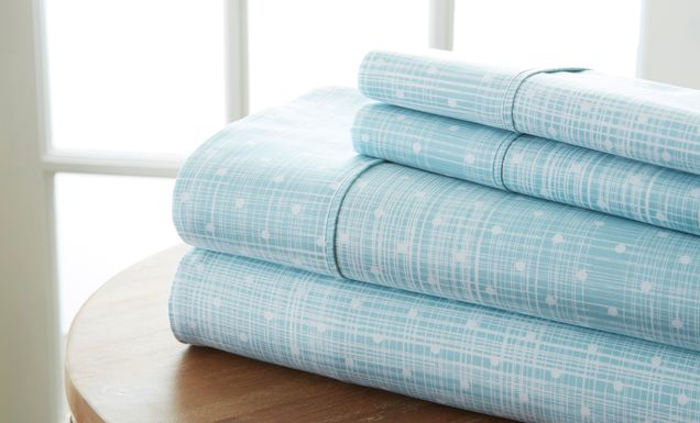 Belden Landing XVIII Aqua 3 Pc King Duvet Set