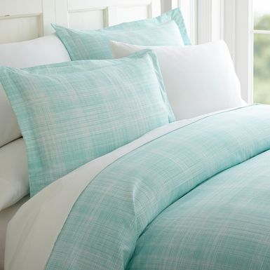 Belden Landing XX Aqua 3 Pc King Duvet Set