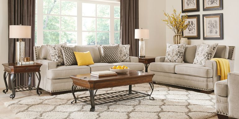 Belhaven Beige 2 Pc Living Room