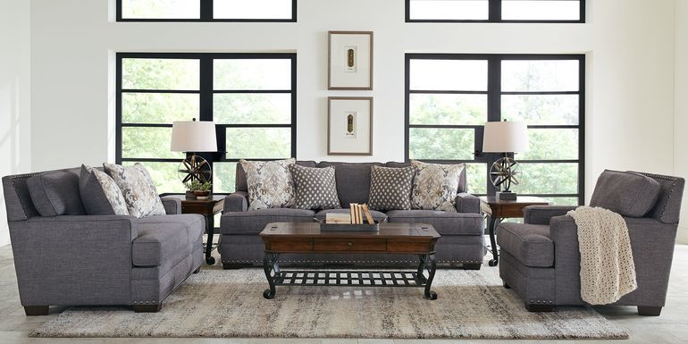 Belhaven Graphite 2 Pc Living Room