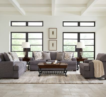 Belhaven Graphite 7 Pc Living Room