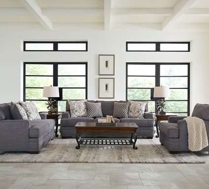 Belhaven Graphite 8 Pc Living Room