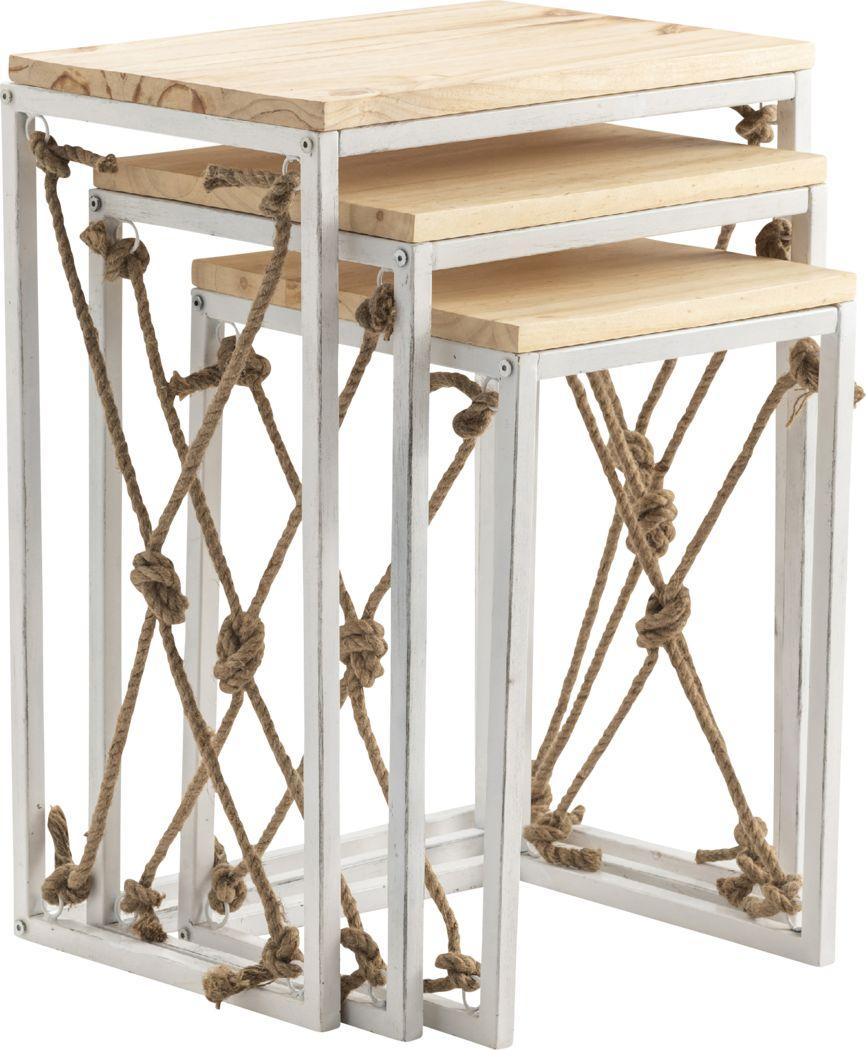 Belifore Brown Nesting Tables, Set of 3