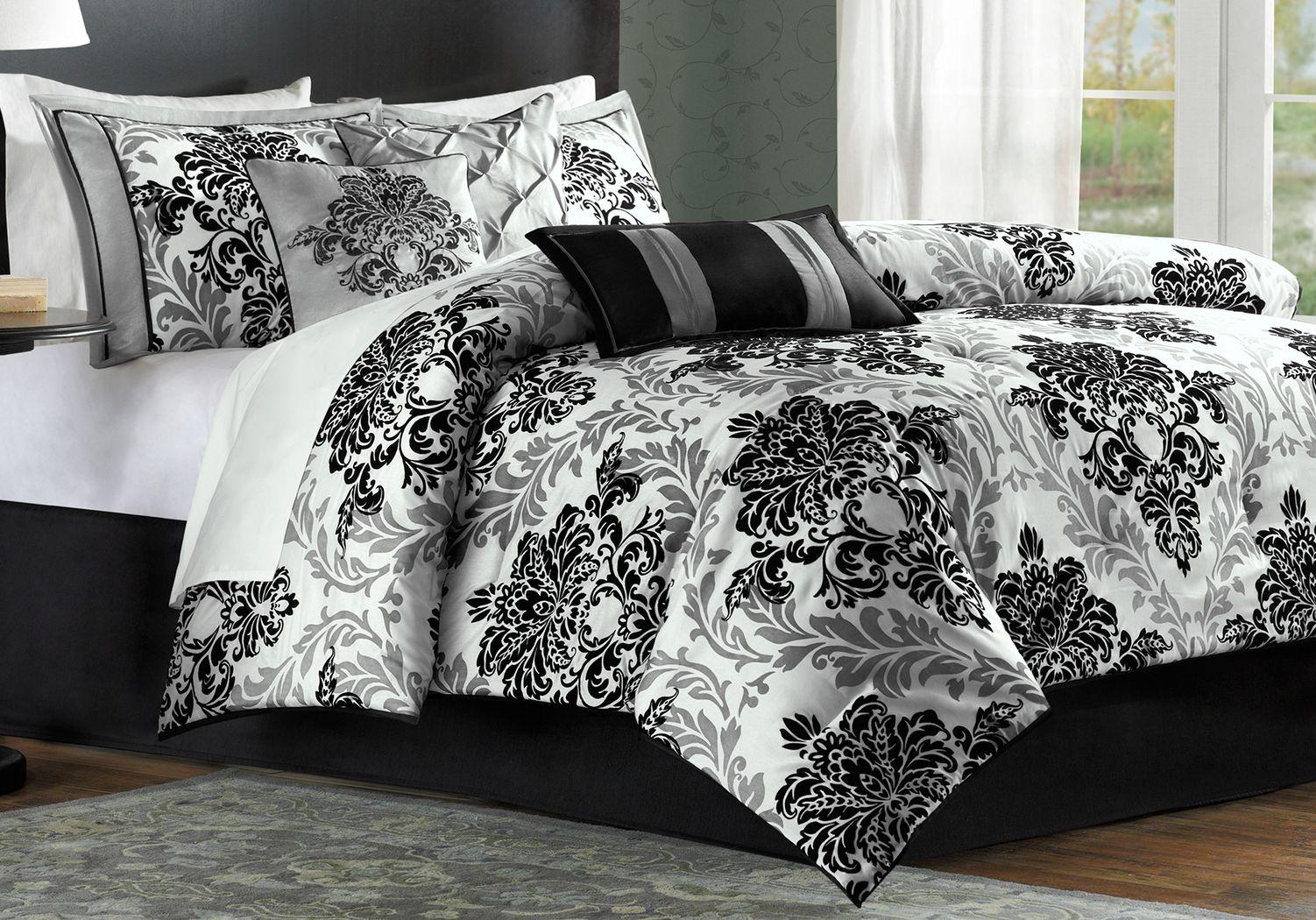 Bellaire Gray 7 Pc King Comforter Set