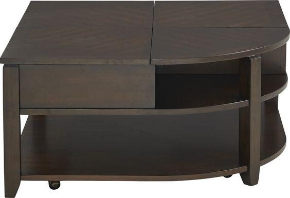 Belman Brown Lift-Top Cocktail Table