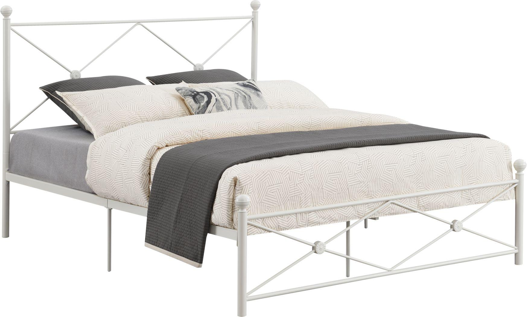 Benecia White King Bed