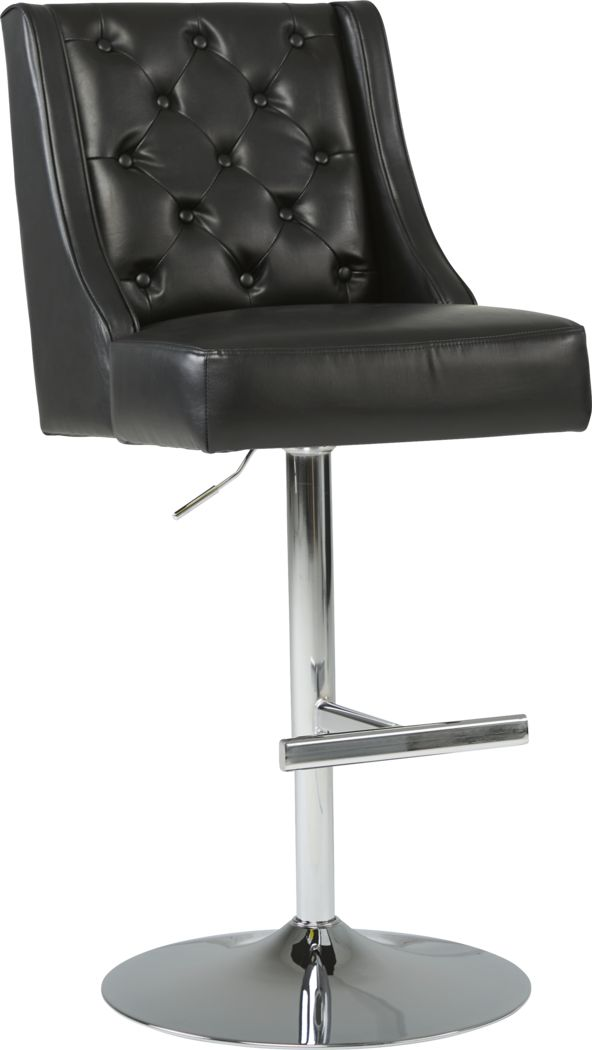 Benji Black Adjustable Swivel Barstool