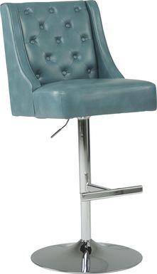 Benji Blue Adjustable Swivel Barstool