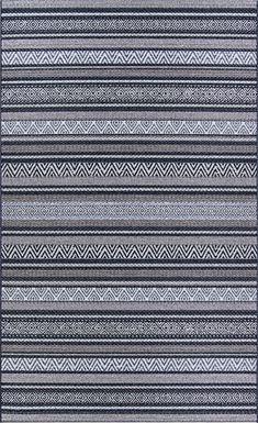 Bennard Black 5'3 x 7'6 Indoor/Outdoor Rug