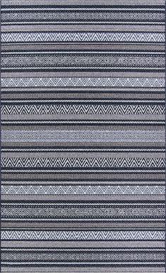 Bennard Black 7'10 x 10'9 Indoor/Outdoor Rug