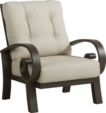 Bermuda Bay Aged Bronze Outdoor Club Chair with Wren Cushions