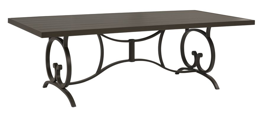 Bermuda Breeze Aged Bronze 90 in. Rectangle Outdoor Dining Table