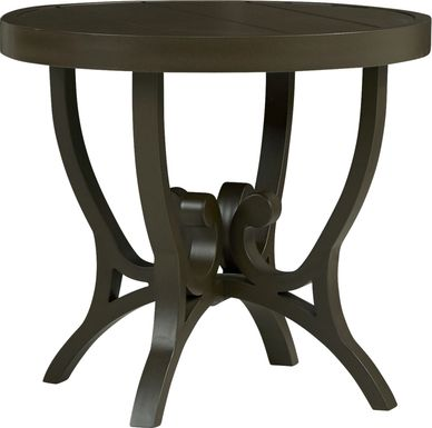 Bermuda Breeze Aged Bronze Outdoor Round End Table