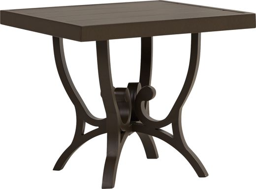 Bermuda Breeze Aged Bronze Square End Table