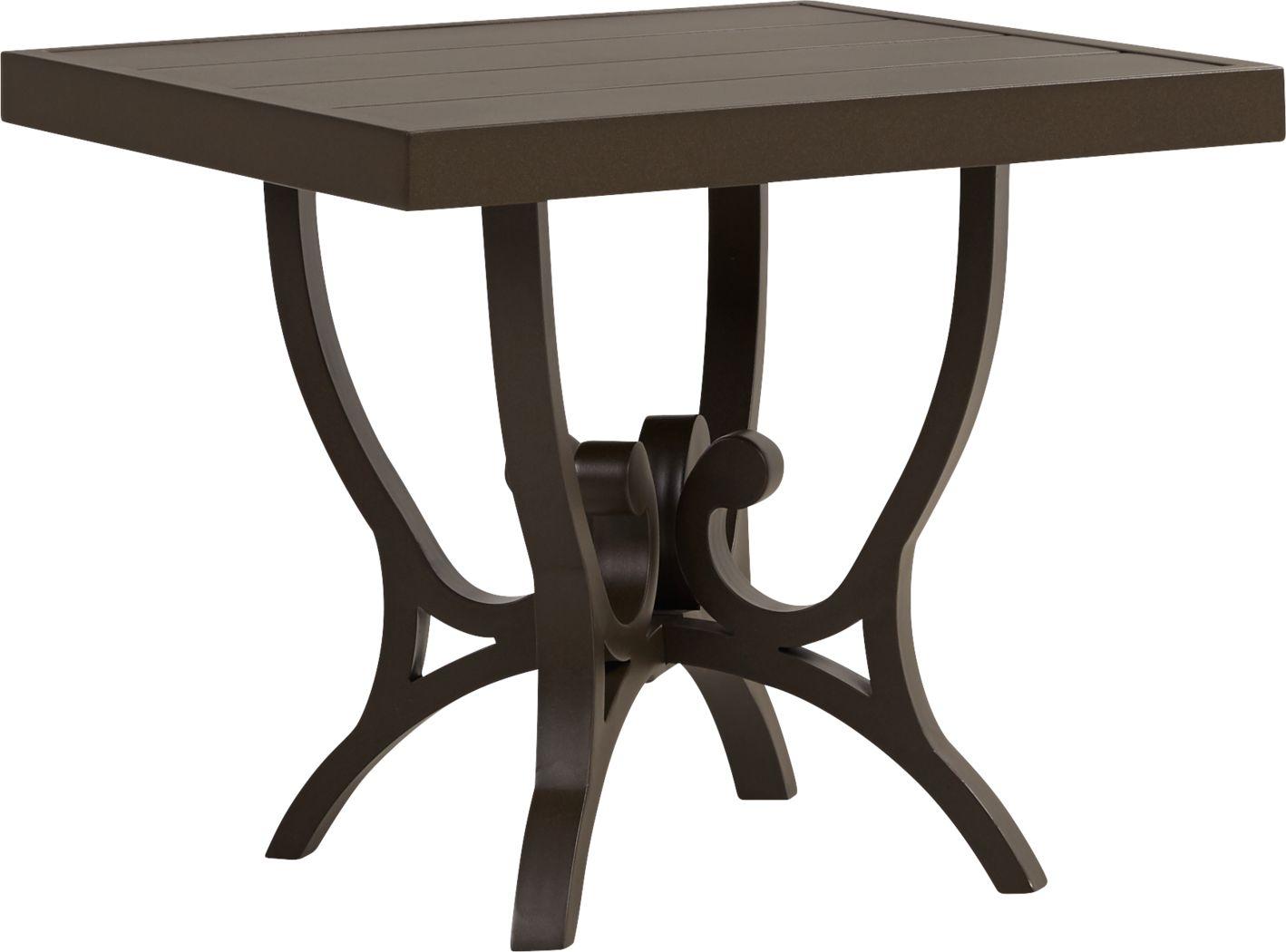 Bermuda Breeze Aged Bronze Square End Table
