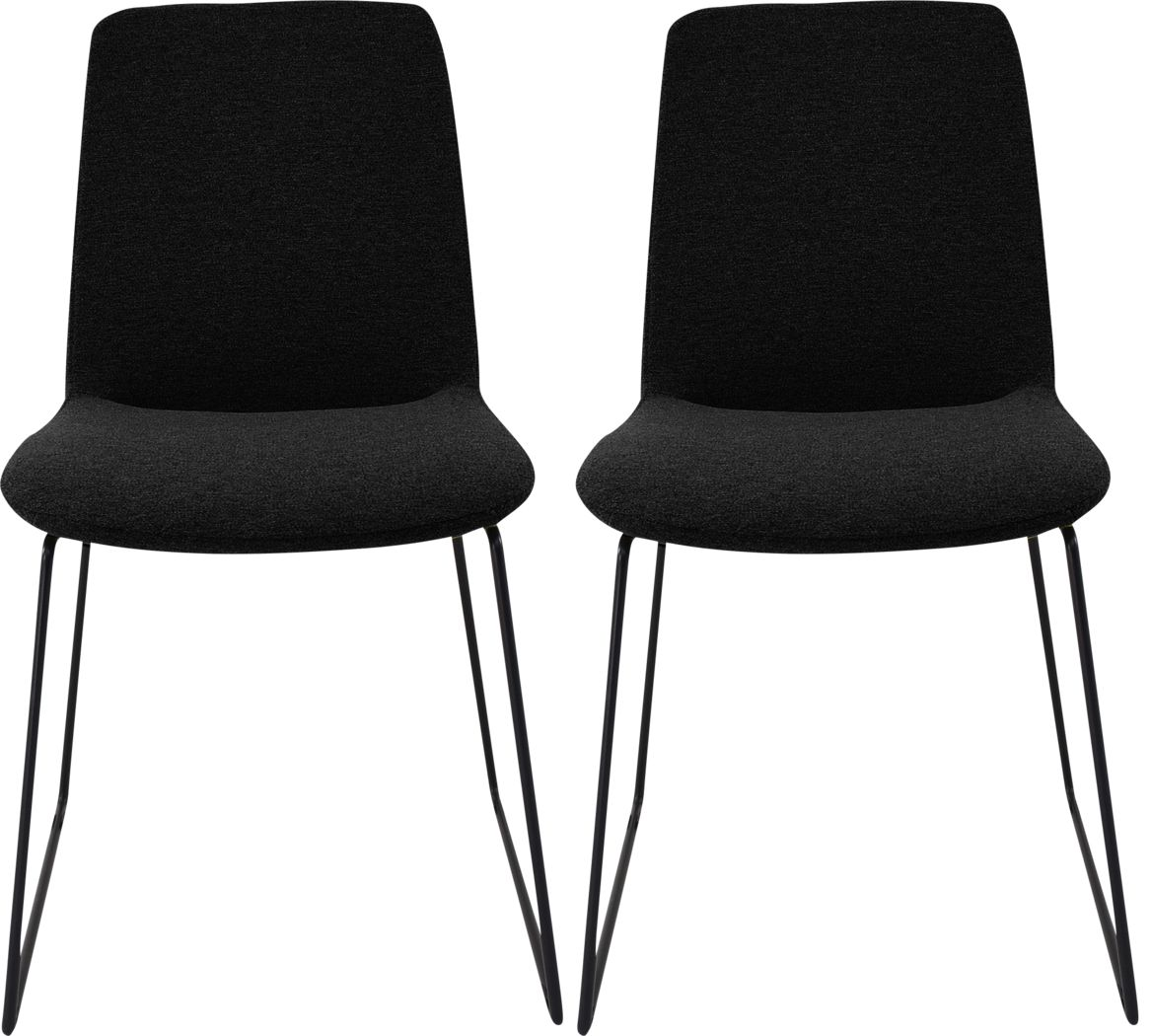 Bermwood Black Dining Chair, Set of 2