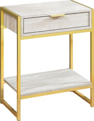 Berrien Gold Accent Table