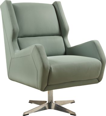 Bertino Gray Accent Swivel Chair