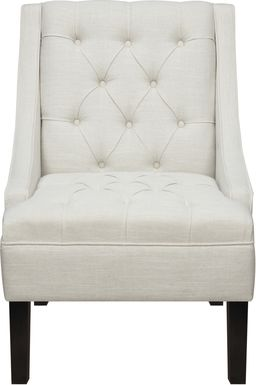 Bertram Way White Accent Chair