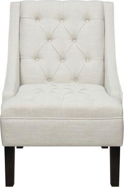 Bertram Way White Accent Chair