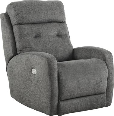 Bessemer Charcoal Power Recliner