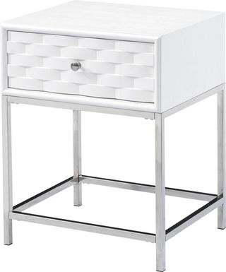 Betrand White End Table