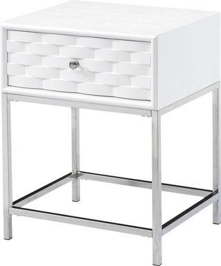 Betrand White End Table