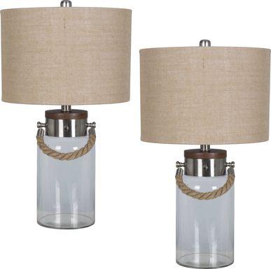 Bettyhill Clear Lamp, Set of 2
