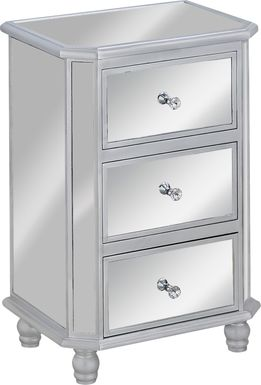 Beveridge Silver Nightstand