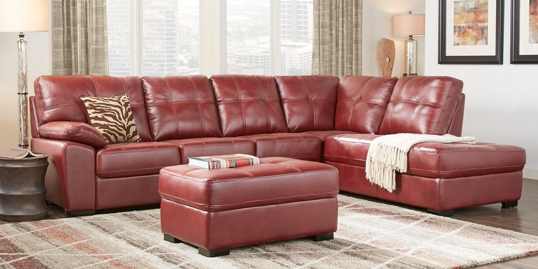 Bexley Square Red 2 Pc Sectional
