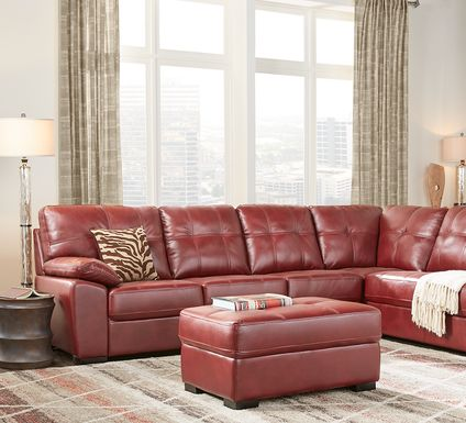 Bexley Square Red 3 Pc Sectional Living Room